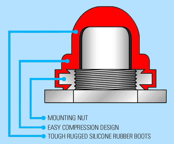 Push Button Switch Seal Specifications Diagram